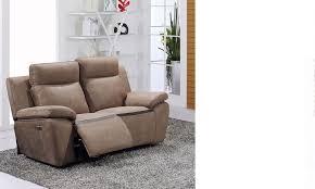 canape relax electrique cuir canapé relax électrique marron en pu et cuir douglas hcommehome