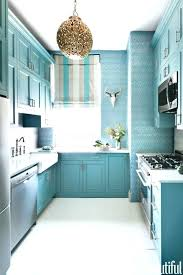 blue distressed kitchen cabinets faced