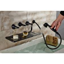 Wall Mounted Bathroom Faucets Oil Rubbed Bronze by Roman Oil Rubbed Bronze Waterfall Bathtub Faucet Hand Held Shower Head
