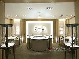 JE021 Fashion Modern Jewelry Glass Display Showcase