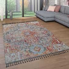 kurzflor teppich orient design teppich wohnzimmer
