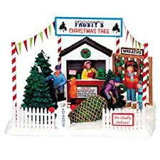 Cheap Coventry Cove Frostys Christmas Tree Lot Table Accent