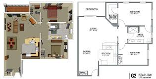 Apartment Beautiful 2 Bedroom 1 Bath Apartment Floor Plans 2