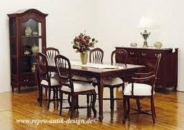 barock esszimmer garnitur kolonial g2 braun tisch mit 6 stühlen