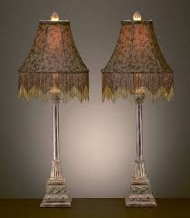 Candlestick Buffet Lamp Pier 1 by Leopard Animal Print Beaded Shade Buffet Table Lamps Pair Price