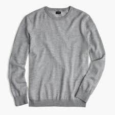 italian merino wool crewneck sweater in bird u0027s eye stitch men