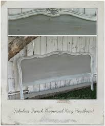 White King Headboard And Footboard by Vintage French Provincial King Headboard Painted In French Linen