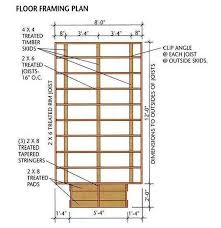 Floor Joist Span Table For Sheds by 8 12 Storage Shed Plans U0026 Blueprints For Building A Spacious Gable