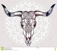 Decorated Cow Skulls Pinterest by Paisley Skull Tattoo Stock Illustrations Vectors U0026 Clipart U2013 53