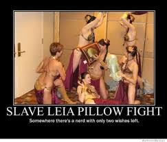Slave Leia Pillow Fight
