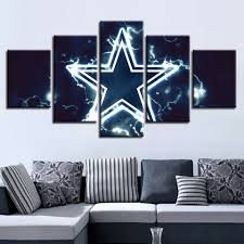 100 Pop Art Home Decor Details About Painting Poster Canvas 5 Panel Dallas Cowboys Wall