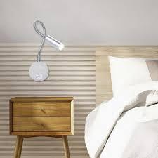 tomshine 3w led wandleuchte nachttischle soft 360º verstellbare röhre mit schalter zum lesen schlafzimmer cafe shop kommode