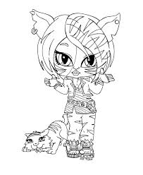 Pet Toralei Stripe Monster High Coloring Page
