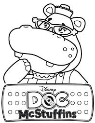 Full Image For Hallie The Hippo Of Doc Mcstuffins Coloring Page Printable Pages