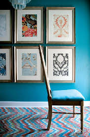 Framing Scraps Of Wallpaper Or Fabric Becomes Instant Inexpensive Art Also A Great
