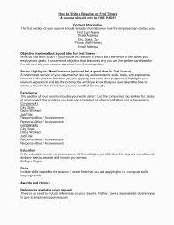 Resume For Teenager First Job Unique Elegant Examples Pdf Best 0d