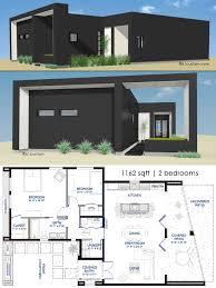 Modern Houseplans 1162 Small Modern House Plan