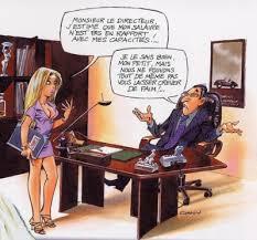 sous bureau la secrétaire ecriture humour