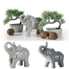 dekoration dekofigur elefant grau keramik figur wohnzimmer