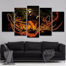 Naruto 5 Panels Canvas Painting Wall Art