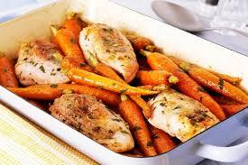 cuisiner poulet au four poitrines de poulet aux carottes rôties au four kraft canada