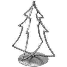 12 Black Tone Iron Metal 3D Christmas Tree Ornament Stand
