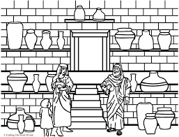 Elisha And The Jar Of Oil Coloring Page