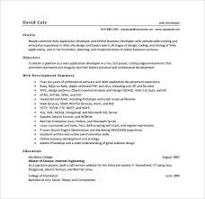 Web Developer Resumes Resume Free Download Objective Examples