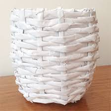 DIY Recycled Woven Paper Basket
