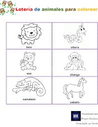 ⊛ Lotería De Animales Para 【Imprimir Y Colorear】
