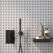 white matte with gray dot cc mosaics collection ceramic tiles