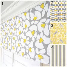 yellow grey valance panel geometric window treatment yellow