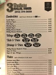 100 Food Trucks In Tampa 3 Brothers Halal Truck Menu In Florida USA