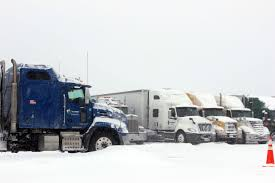 100 Trucks In Snow Milder Temperatures Expected This Weekend Following Winter Blast