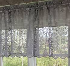 grau lucia vorhang spitzen gardine 120x240 cm 2 stück
