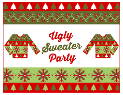 Ugly Sweater Christmas Party Invitations Template Best Of Teal Ideas Free Parties Events Archives Diy