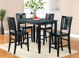Black Dining Room Table Set Collection Counter Height