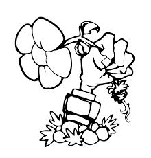 Imágenes Para Colorear Dibujos Para Pintar De Plantas VS Zombies