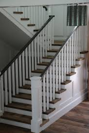 127 Best Stair Rails Images On Pinterest | Stairs, Banisters And ... Remodelaholic Updating An Oak Stair Or Handrail To White And Walnut Rustic Wood Stair Railings Light Wood Staircase Best 25 Painted Banister Ideas On Pinterest Banister Remodel Top Ten Makeovers Link Party Railing Modern Neutral Wooden With Minimalist Steel Railing Bannister Banisters 12 Best Stairs Images Stairs Custom Interior Simple Also Rustic