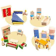 puppenhaus möbliert holz puppenhausmöbel wohnzimmer