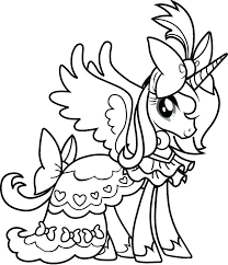 My Little Pony Celestia Coloring Pages Princess Page Best Of