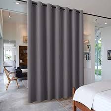 pony vorhang grau blickdicht 1 stück h 210 x b 254 cm große verdunklungsvorhänge für wohnzimmer balkontür gardine blickdicht ösenschal