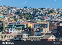 100 Houses In Chile Colorful On Hills Valparaiso Stock Photo Edit Now