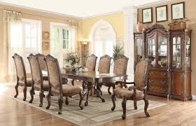 100 Dining Chairs Country English Style Furniture Double Pedestal Set With