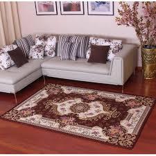 neue ankunft europäischen stil anti skid premium jacquard teppich für wohnzimmer rot schwarz braun creme matte teppich boden matte