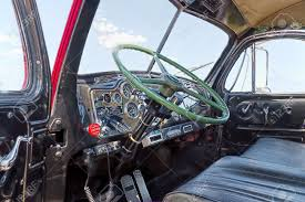 Close Up Of The Interior Of An Antique Mack Truck B-61 Thermodyne ...