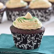 Chocolate Stout Cupcakes with Whiskey Ganche and Irish Cream
