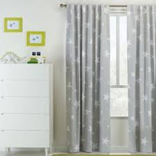Kids House Star Tab Top Curtain