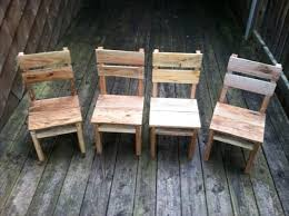 DIY Rustic Pallet Table And Chairs