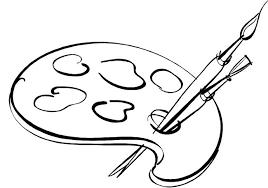 Paint Pallet Drawings Painters Clip Art